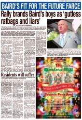 SHHMC Baird's boys gutless ratbags and liars 26 Nov 15