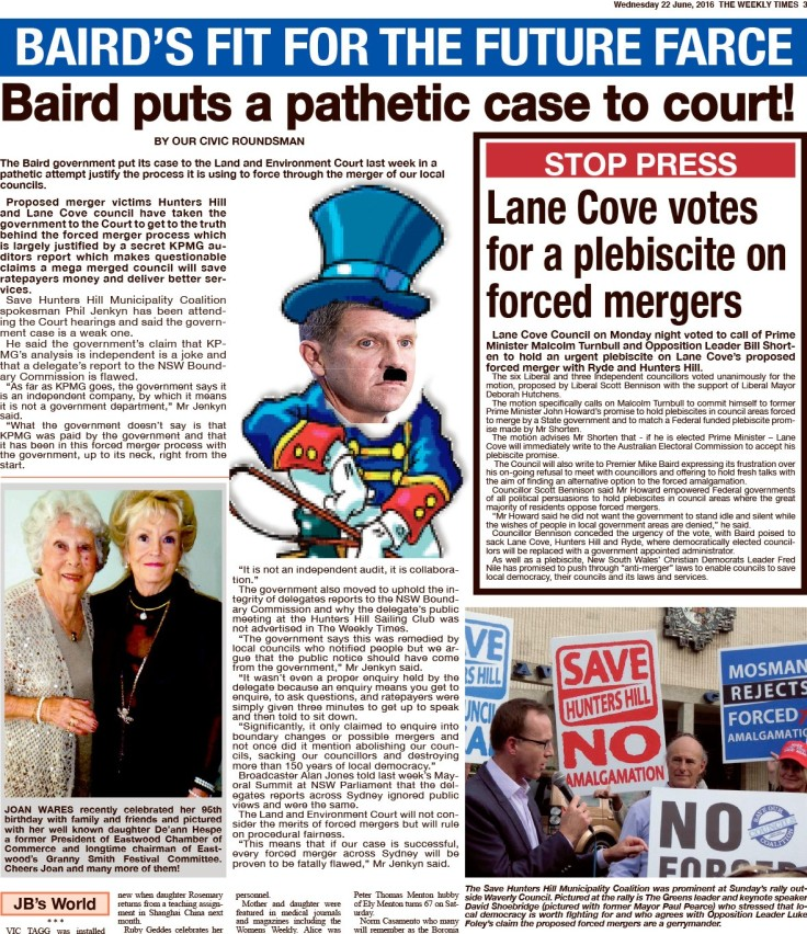 SOCC Baird puts pathetic case to court TWT 22 June 2016